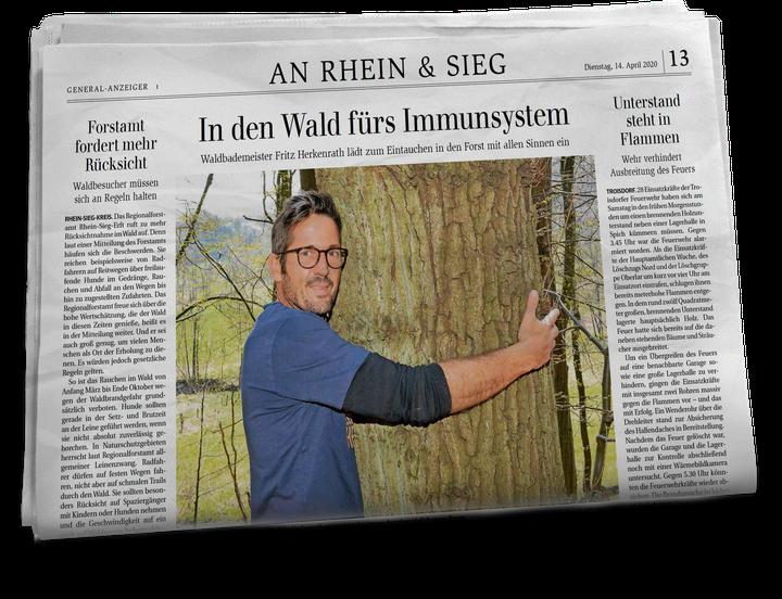 Waldbaden mit Fritz Herkenrath