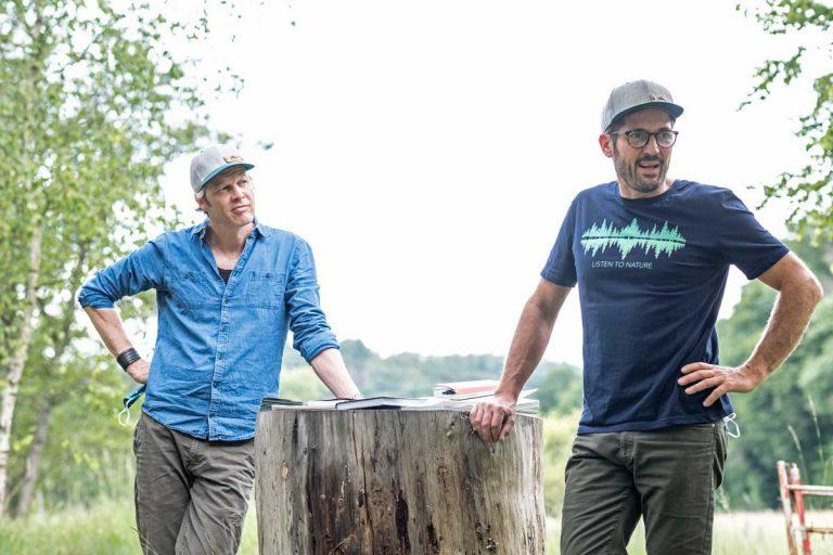 Waldbaden mit Waldbademeister Fritz Herkenrath und Tom Haass